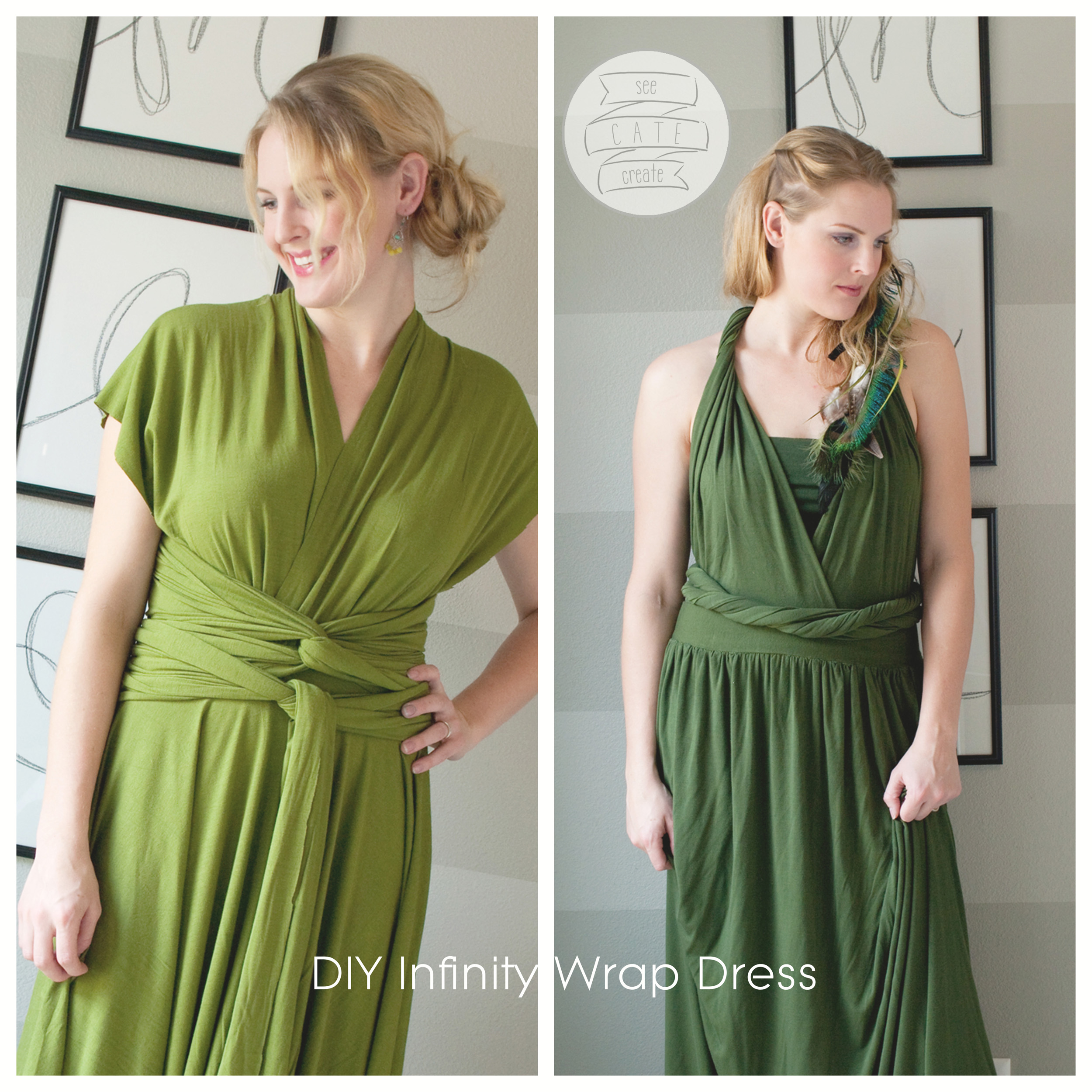 DIY Infinity Wrap Dress
