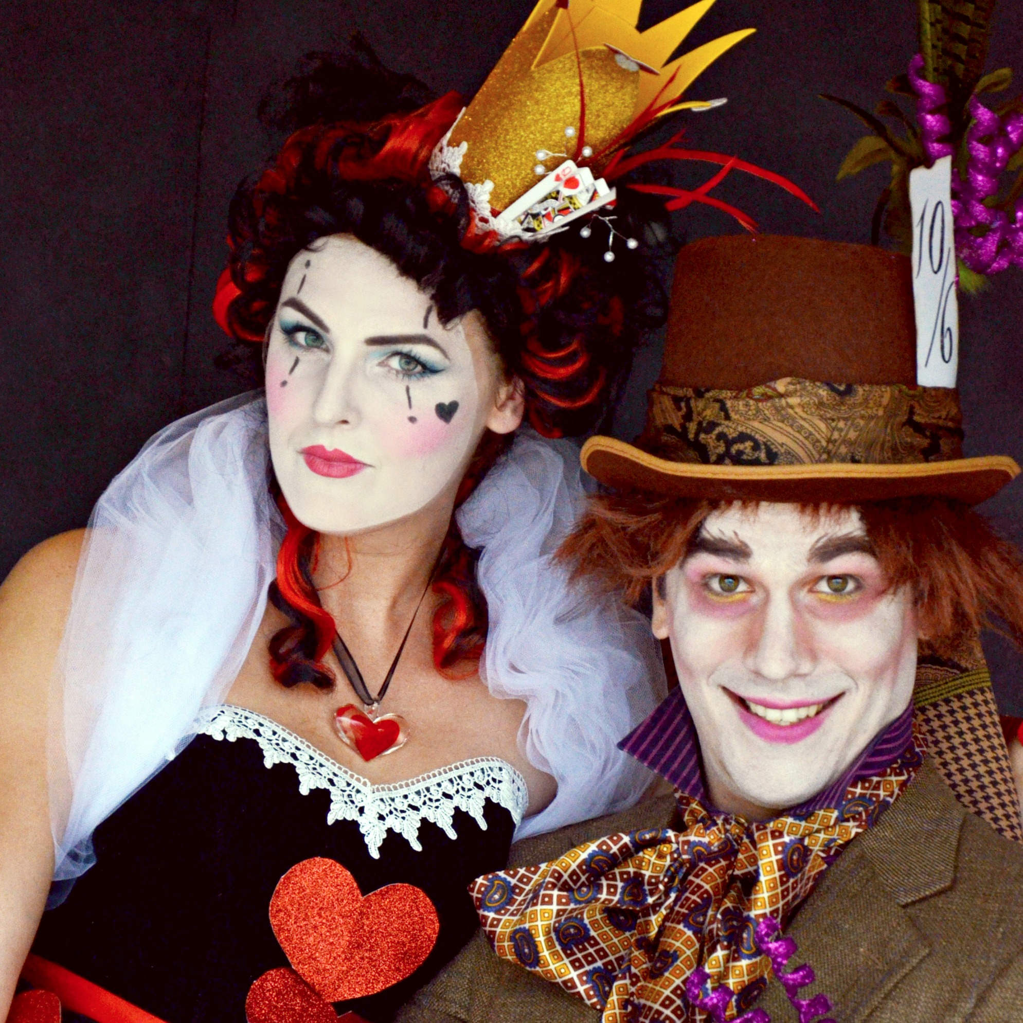 mad hatter and queen of hearts|couples halloween costume ideas